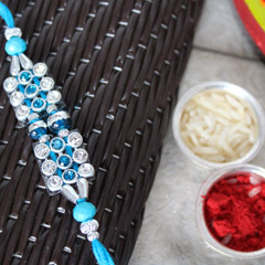 Shimmering Blue Rakhi