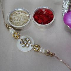 Sparkling Pearly Rakhi