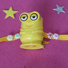 Yellow Minion Rakhi with Sharpener