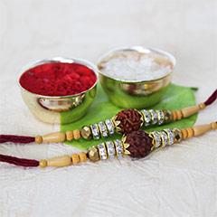Sparkling Rudraksha Rakhis