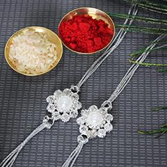 Pearly Flowery Rakhis
