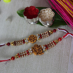 OM and Ganesha Rakhi Set