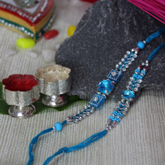 Blue Spark Rakhi Set