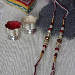 Colourful Beaded Rakhi Set