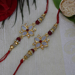 Golden Silver Rakhi Set