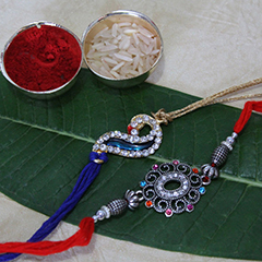 Elegant Rakhi set of 2