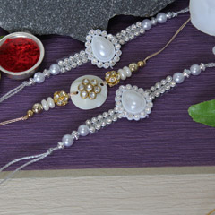 Pearly Shiny Rakhis