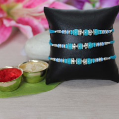 Beautiful Blue Rakhi Set