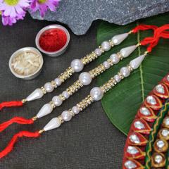 Dazzling Pearl Rakhi set of 3