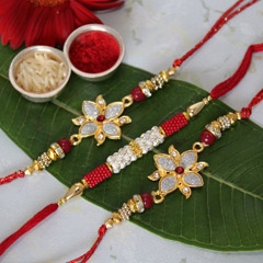 Red & Shiny Rakhi Set /></a></div><div class=