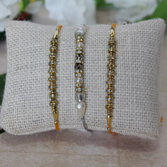 Golden Silver Rakhi Trio
