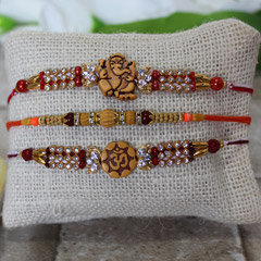 Auspicious & Sparkling Rakhi Set of 3 /></a></div><div class=