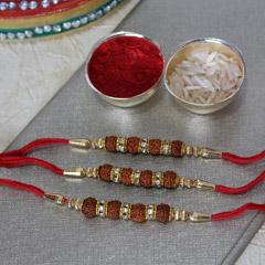 Elegant Rudraksha Rakhis