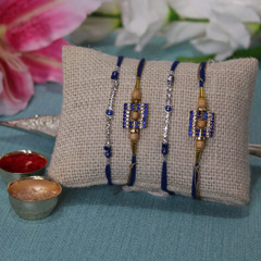 Blue N True Rakhi set