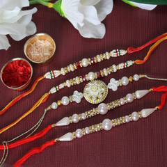 Colourfully Bright Rakhi Set
