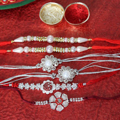 Fantabulous Set of 6 Rakhis