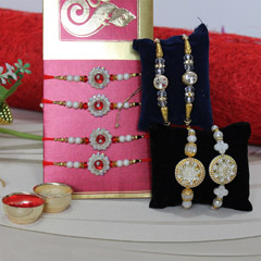 Charming set of 8 Rakhis