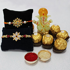 Chocolaty Rakhi with Ganesha /></a></div><div class=