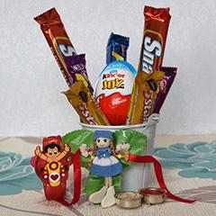 Kids Choco Combo 4 Rakhi