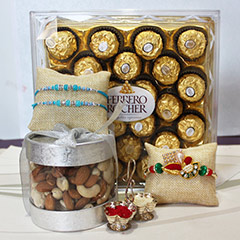 Sweet N Nutty Rakhi Combo