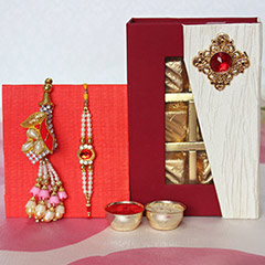 Lumba Rakhi Set with Assorted Chocolates