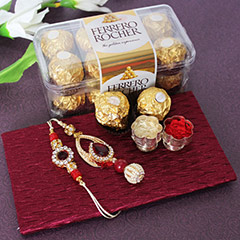 Beautiful Rakhis wid Yummy Chocolates