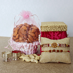 Cashews &Almonds with Rakhis