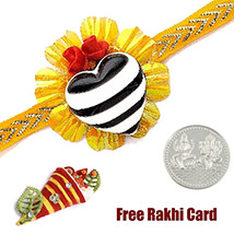 Heart Rakhi with a Free Silver Coin /></a></div><div class=