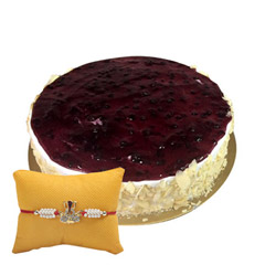 Eggless Blueberry White with Rakhi