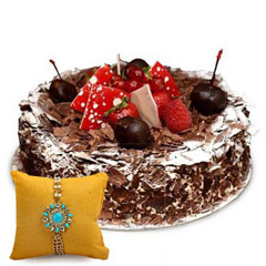 Blackforest Cake with Rakhi