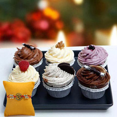 Cup Cakes with Rakhi