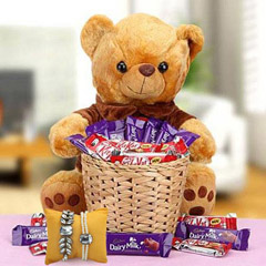 A Basket Loaded with Happiness with Rakhi