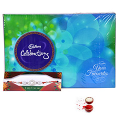 Chocolate Treat with Silver Rakhi /></a></div><div class=