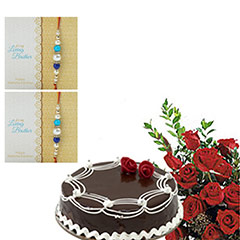 Red Roses N Cake