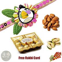 Kids Rakhi Choco Dryfruit Combo