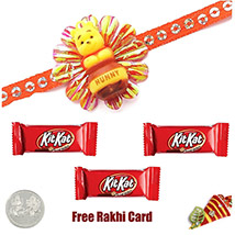 Kids Rakhi with 3 Kitkat Bar
