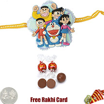 Doremon Rakhi with Lindt 2 Oz
