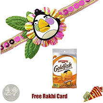 Angry Bird Rakhi with Gold Fish 1.5 Oz