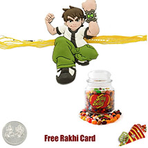 Benton Rakhi with Jelly Beans Jar 64 Oz