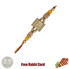 Ethnic Om Rakhi with Free Silver Coin /></a></div><div class=