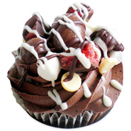 6 Rocky Road Cupcakes