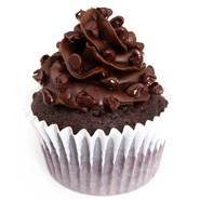 6 Tripple Chocolate Cupcakes