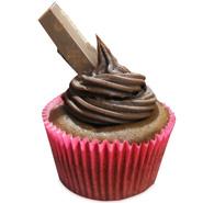 6 Kit Kat Caramel Drizle Cupcakes