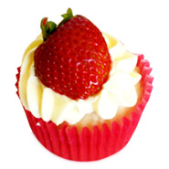 6 Strawberry Cheese Cupcakes