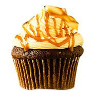 12 Christmas Caramel Cupcakes
