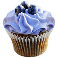 12 Blue Berry Cupcakes