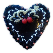 1k Heart Shape Chocolate Eggless Cake