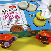 Diwali with Assorted Peda
