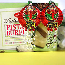 Pista Burfi with Ganesha Hangings
