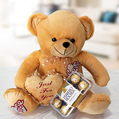 Brown Teddy Hamper